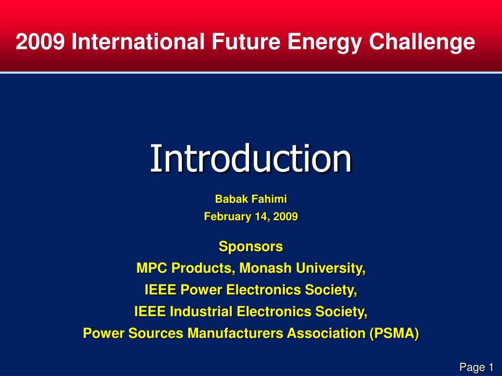 2009 International Future Energy Challenge