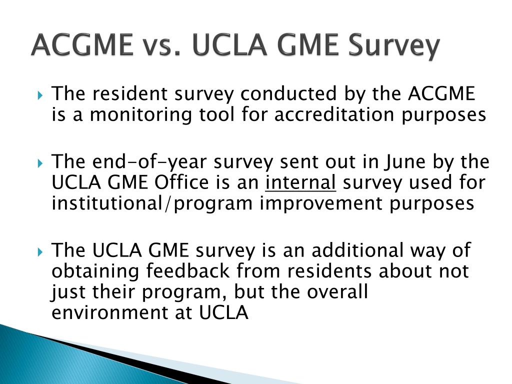 ACGME vs. UCLA GME Survey