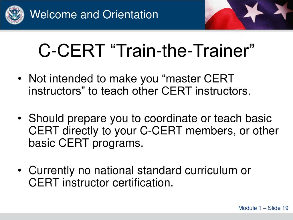 "C-CERT ""Train-the-Trainer"""