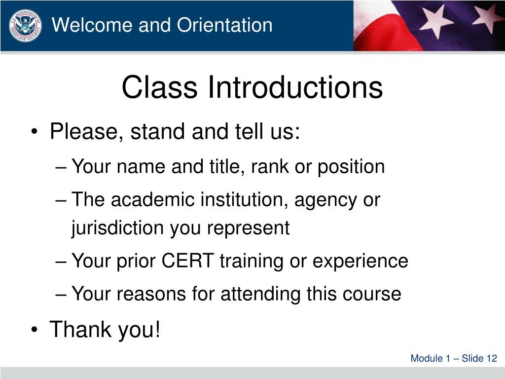Class Introductions