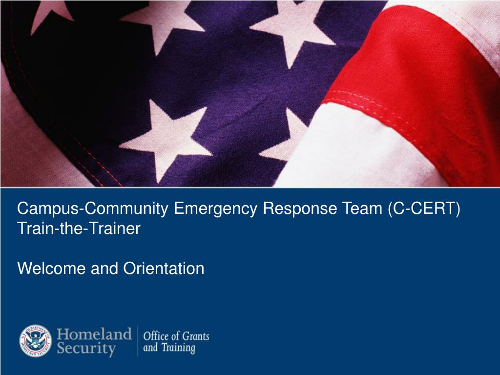 Campus-Community Emergency Response Team (C-CERT)