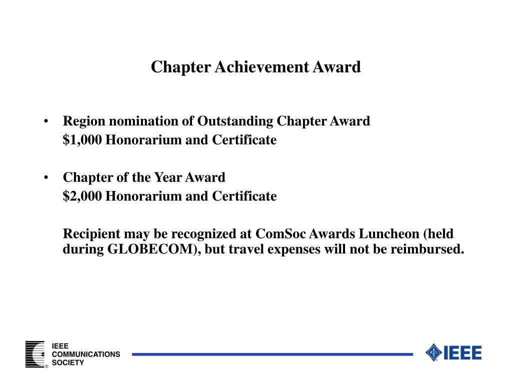 Chapter Achievement Award