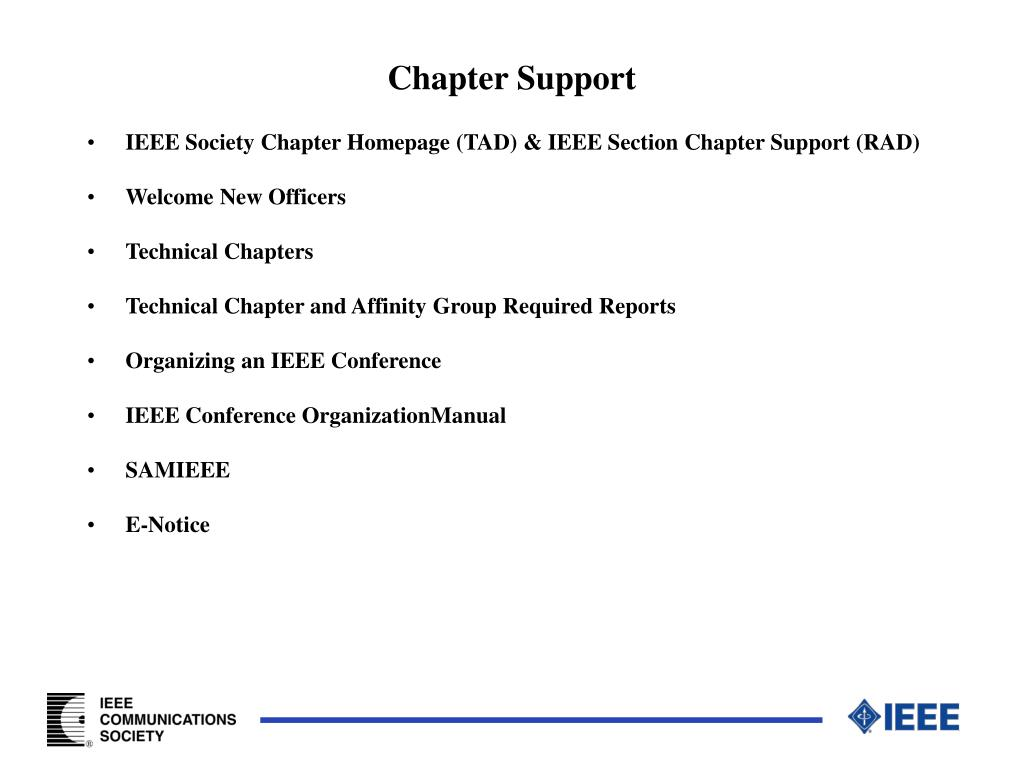 Chapter Support