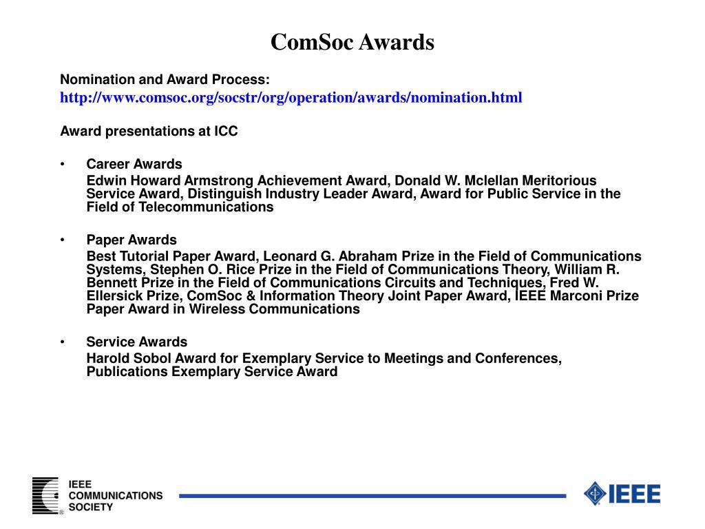 ComSoc Awards