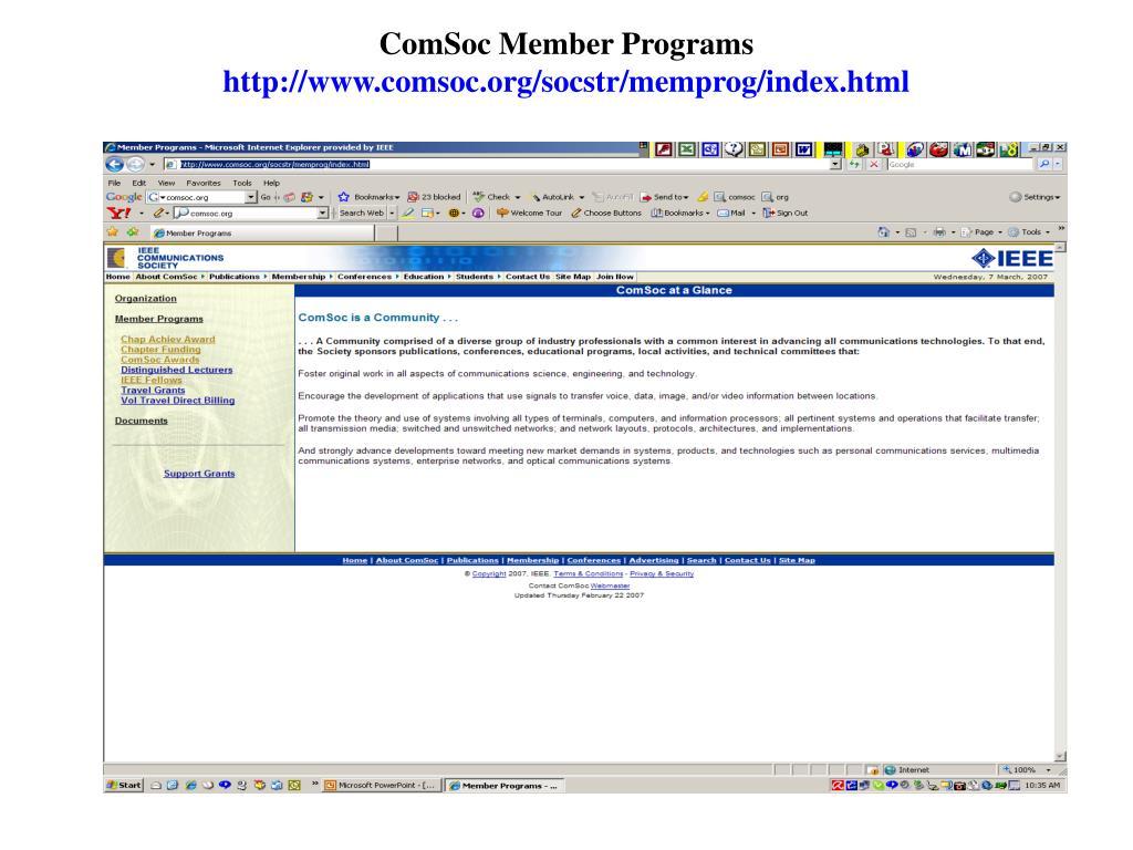ComSoc Member Programs