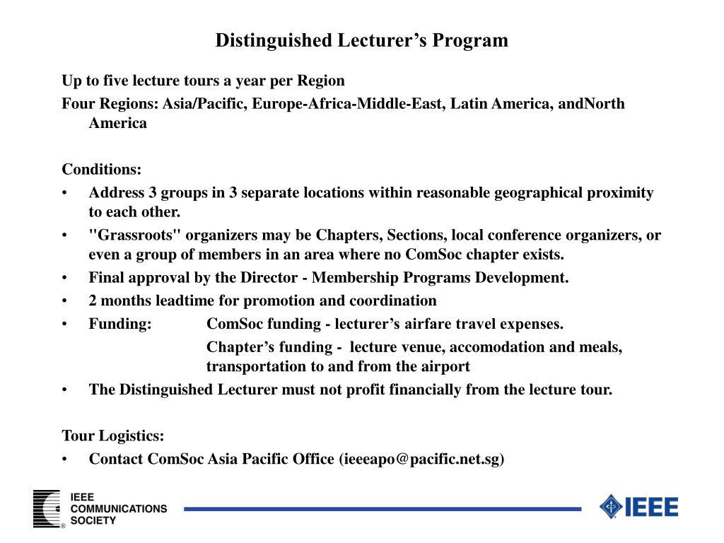 Distinguished Lecturer's Program