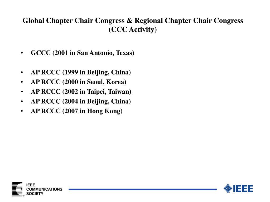 Global Chapter Chair Congress & Regional Chapter Chair Congress