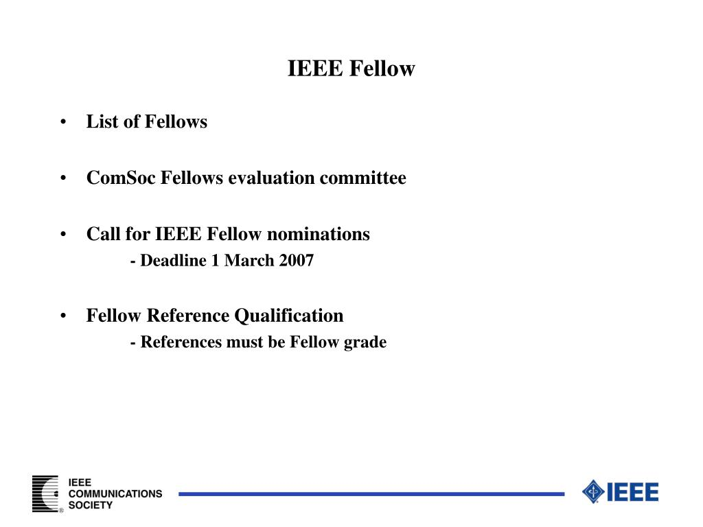 IEEE Fellow