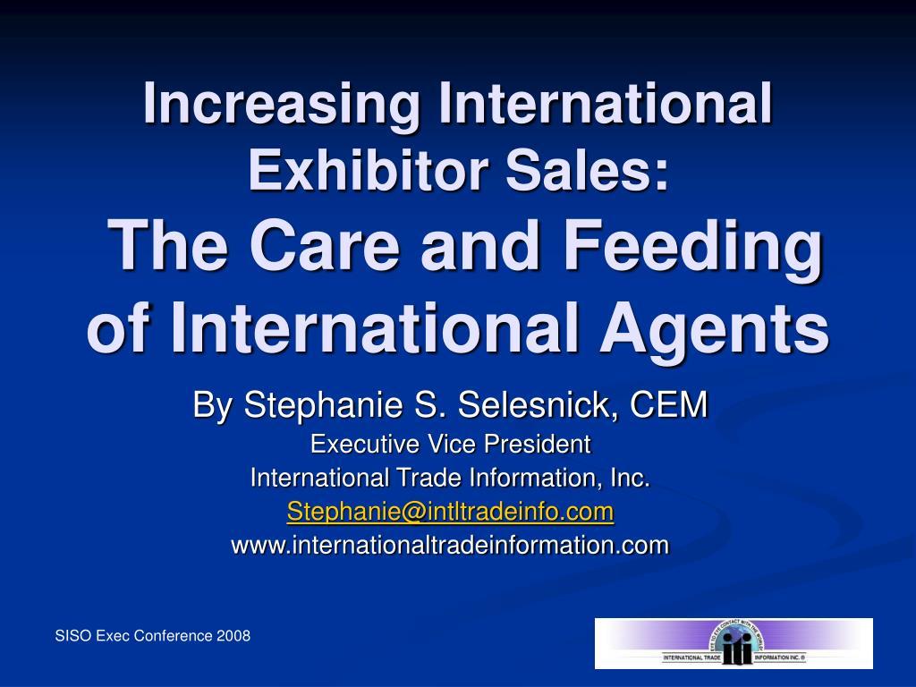 Increasing International Exhibitor Sales: