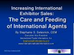 increasing international exhibitor sales the care and feeding of international agents16