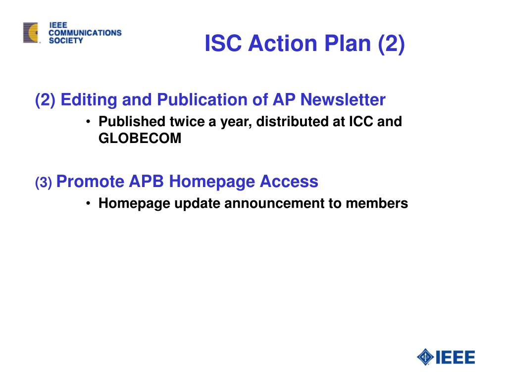 ISC Action Plan (2)