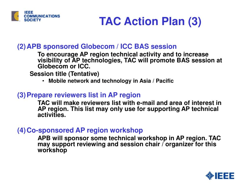 TAC Action Plan (