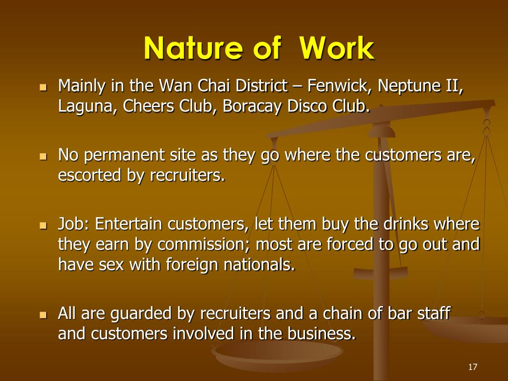 Nature of  Work