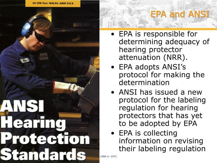 EPA and ANSI