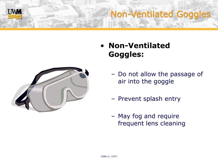 Non-Ventilated Goggles