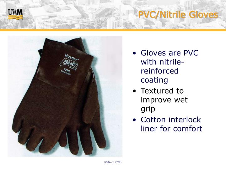 PVC/Nitrile Gloves