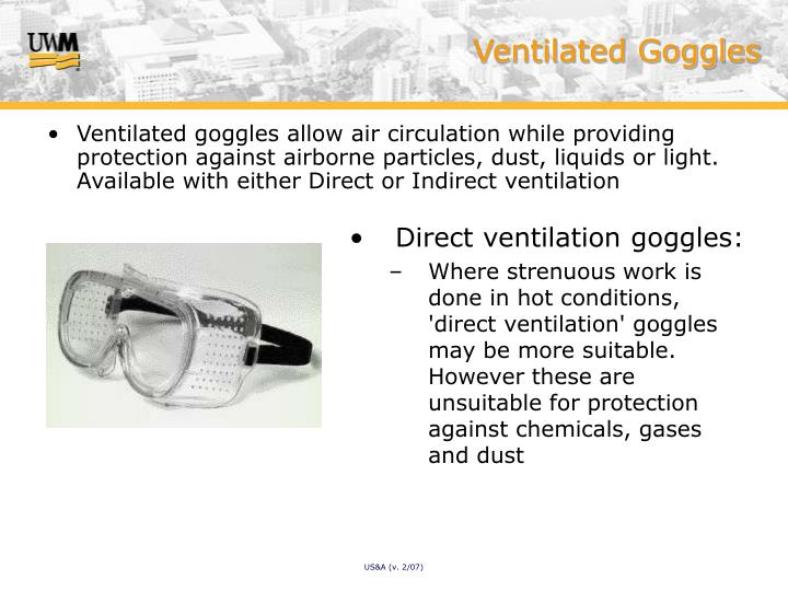 Ventilated Goggles
