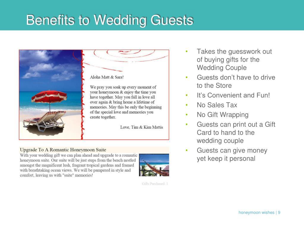 Benefits to Wedding Guests