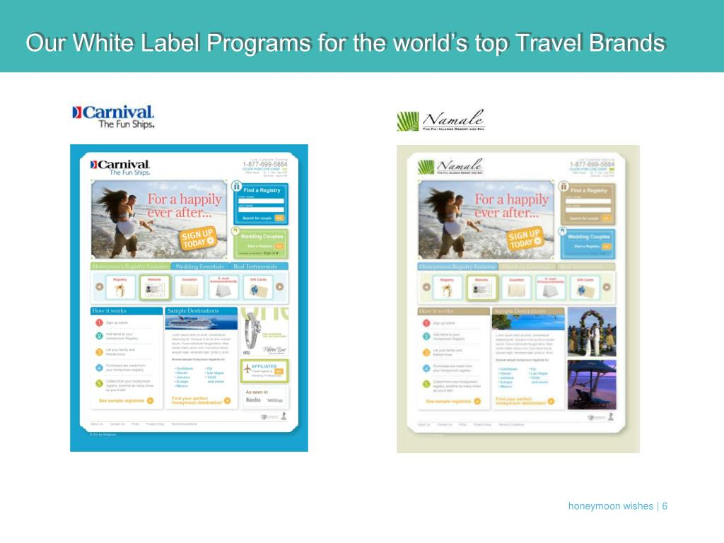 Our White Label Programs for the world's top Travel Brands