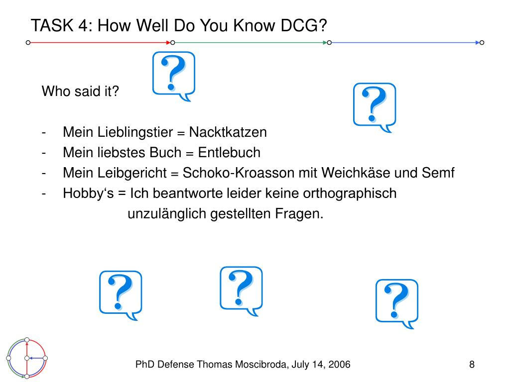 TASK 4: How Well Do You Know DCG?