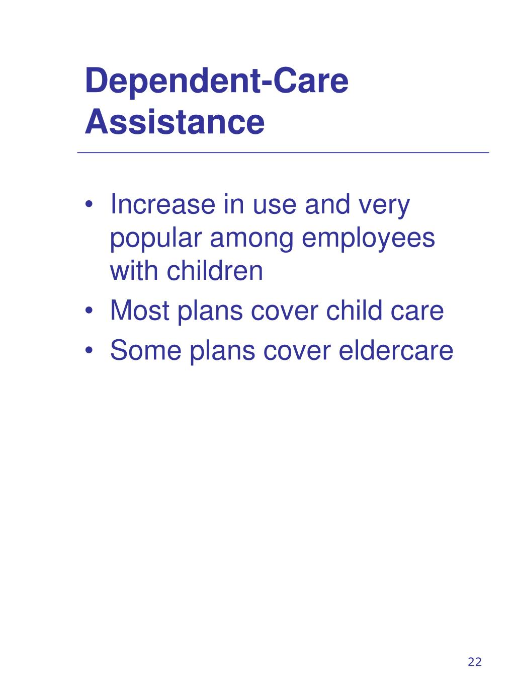 Dependent-Care Assistance