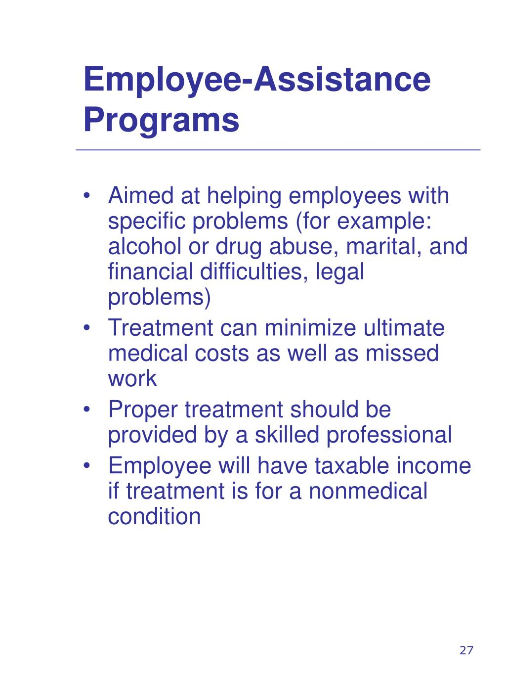 Employee-Assistance Programs