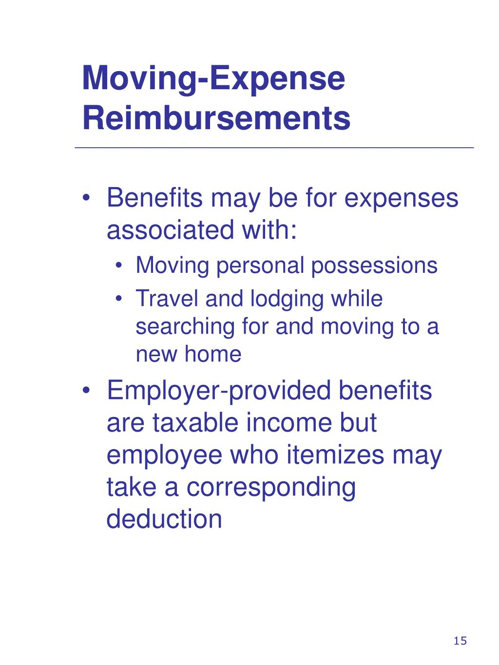 Moving-Expense Reimbursements