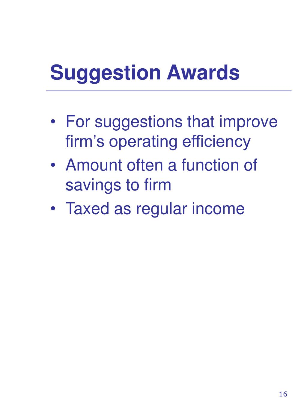 Suggestion Awards