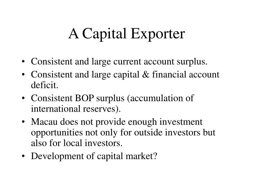 A Capital Exporter