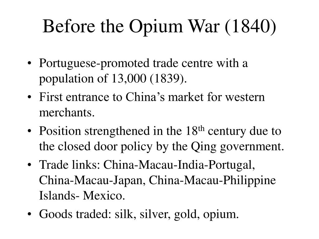 Before the Opium War (1840)