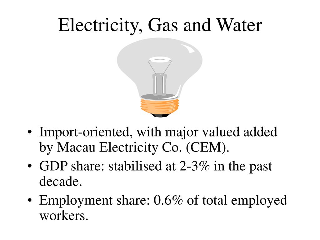 Electricity, Gas and Water