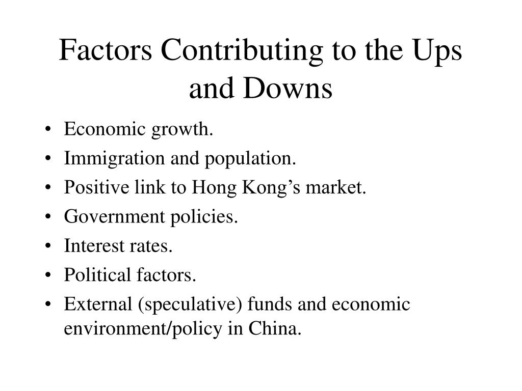 Factors Contributing to the Ups and Downs