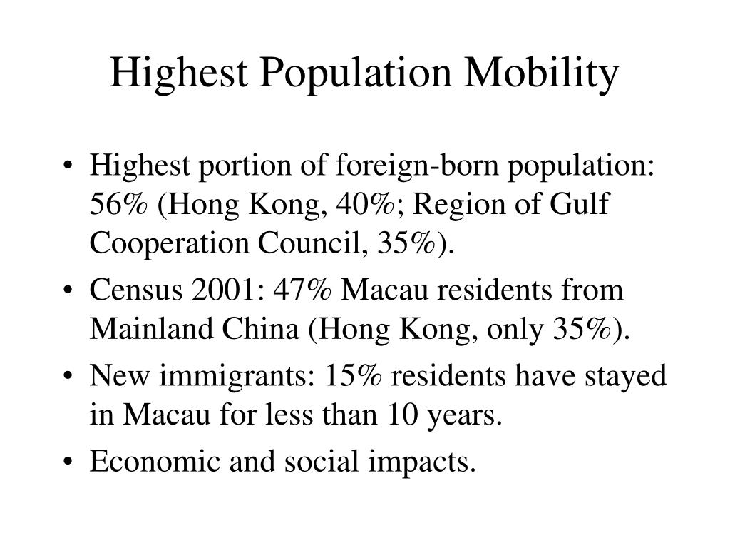 Highest Population Mobility