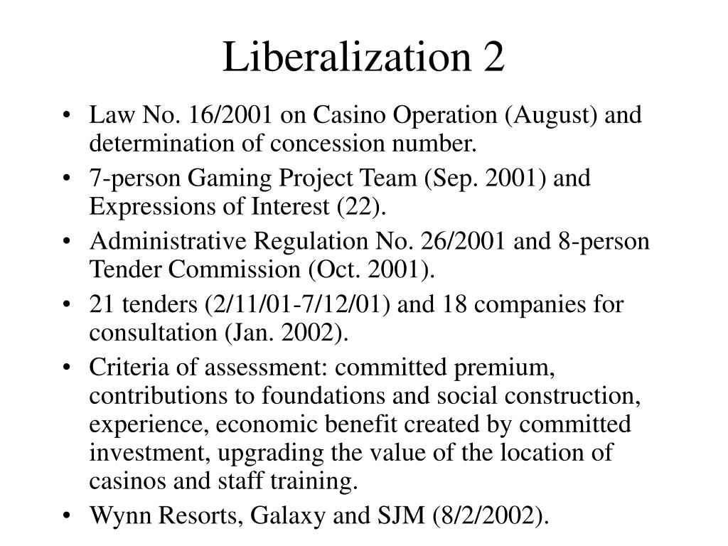 Liberalization 2