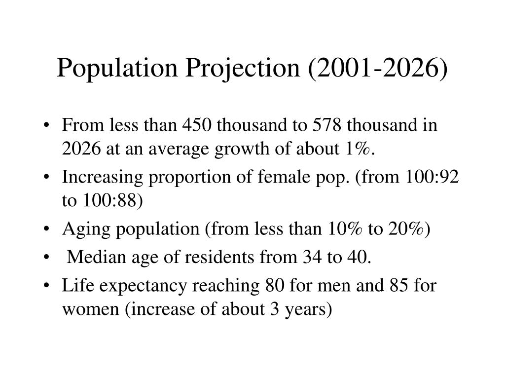 Population Projection (2001-2026)