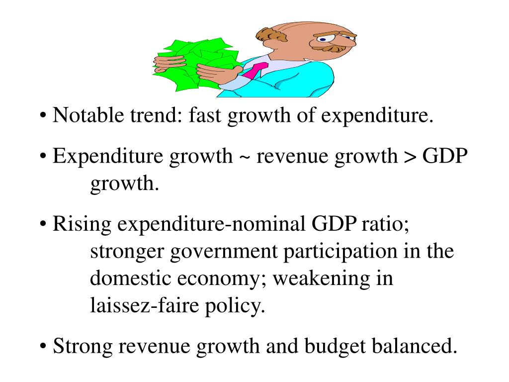 Notable trend: fast growth of expenditure.