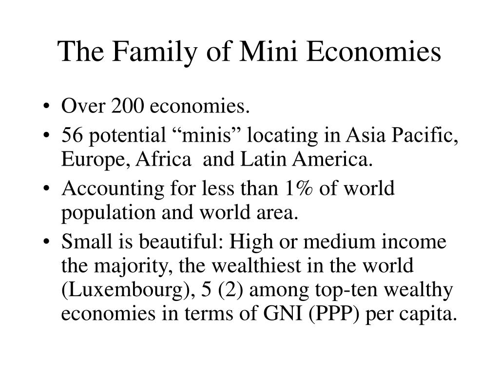 The Family of Mini Economies
