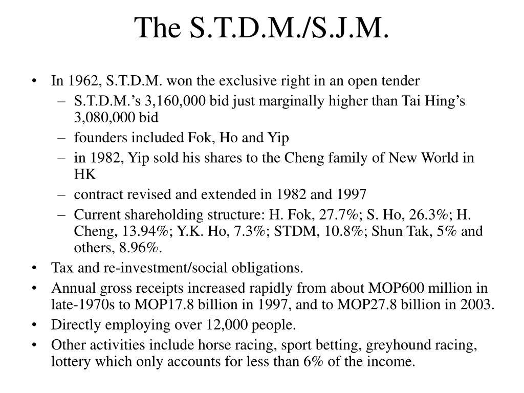 The S.T.D.M./S.J.M.