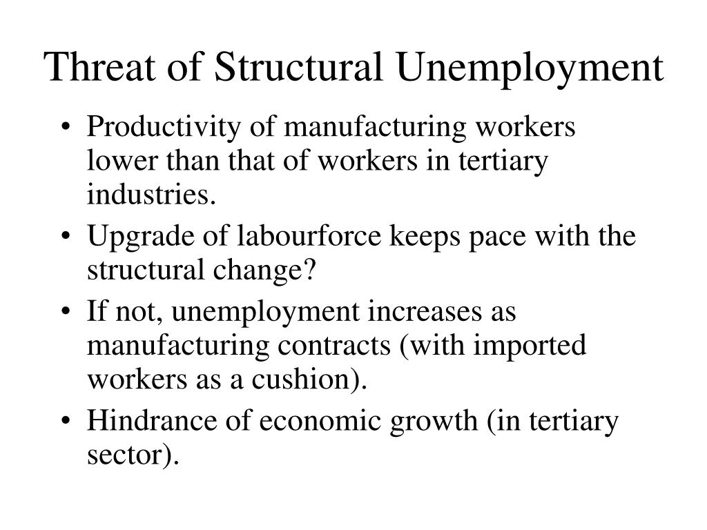 Threat of Structural Unemployment