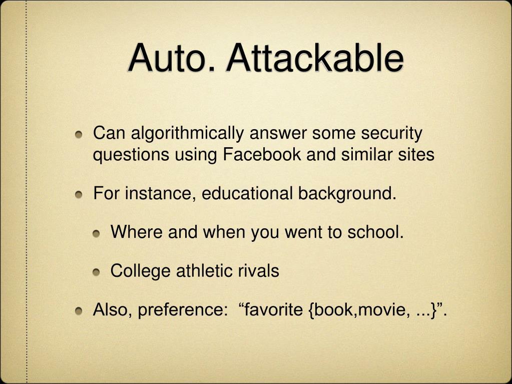 Auto. Attackable