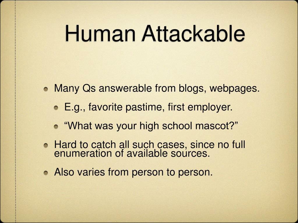 Human Attackable