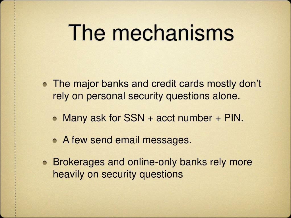 The mechanisms