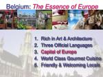 belgium the essence of europe