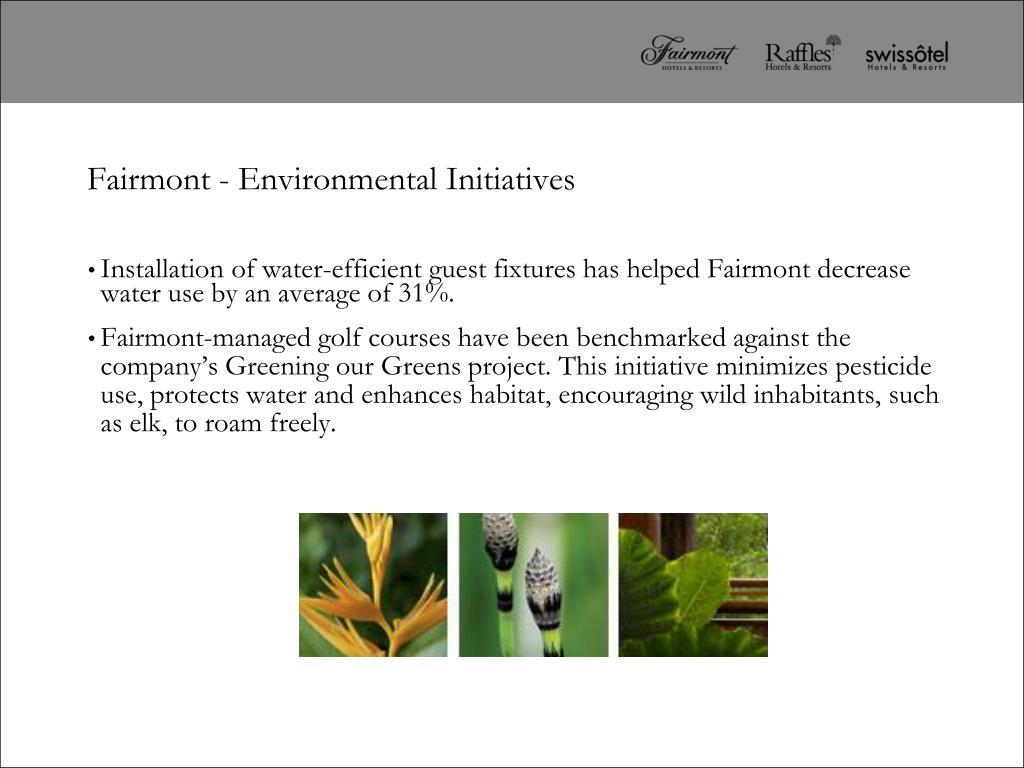 Fairmont - Environmental Initiatives