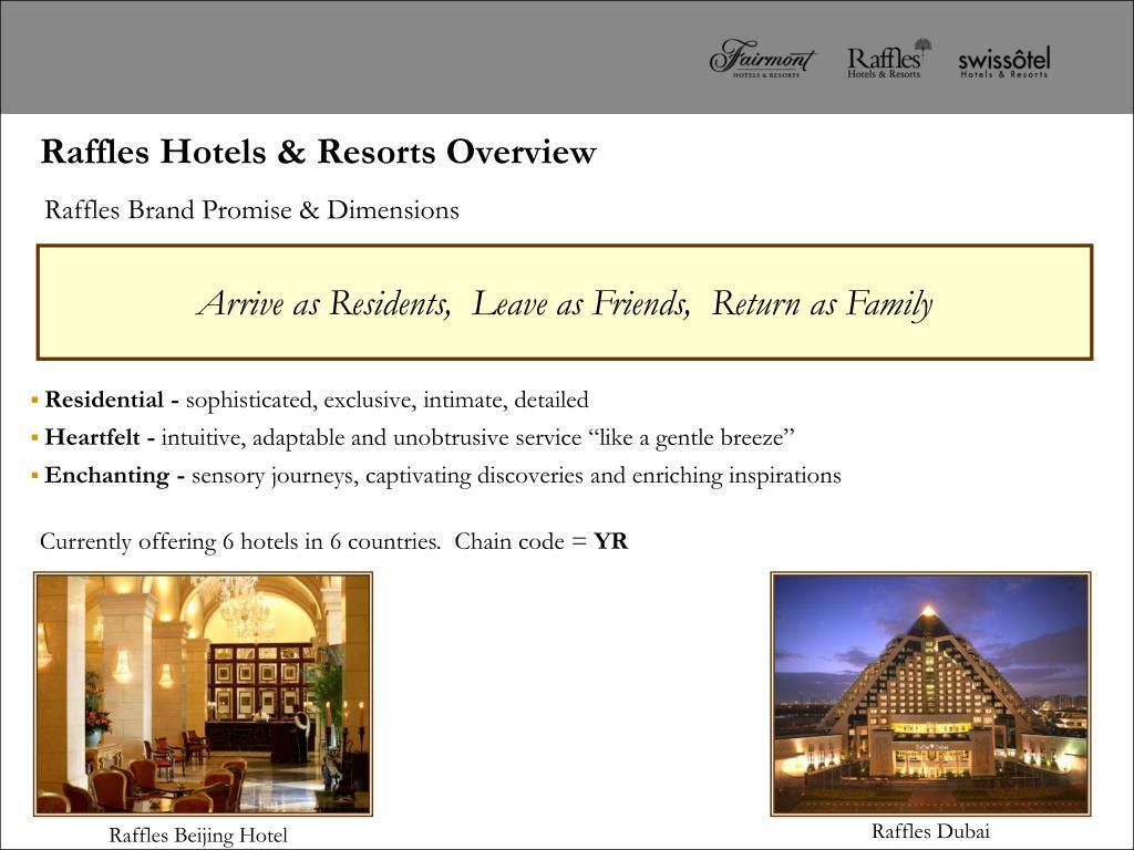 Raffles Hotels & Resorts Overview