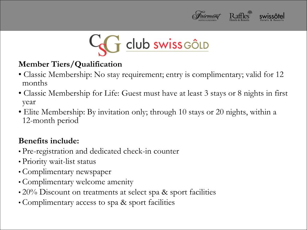 Member Tiers/Qualification