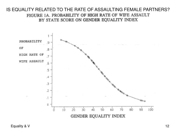 IS EQUALITY RELATED TO THE RATE OF ASSAULTING FEMALE PARTNERS?