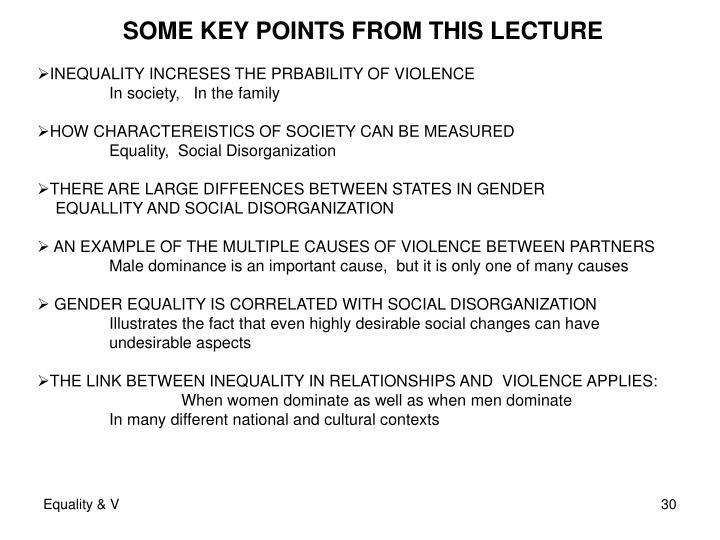 SOME KEY POINTS FROM THIS LECTURE