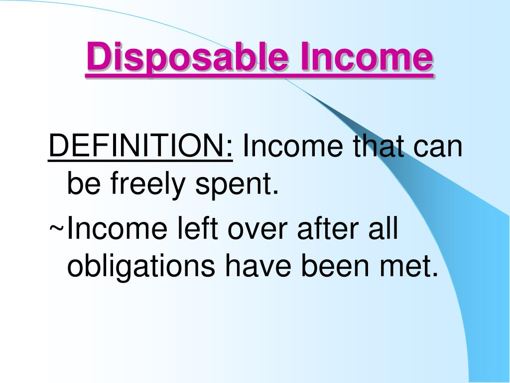 Disposable Income