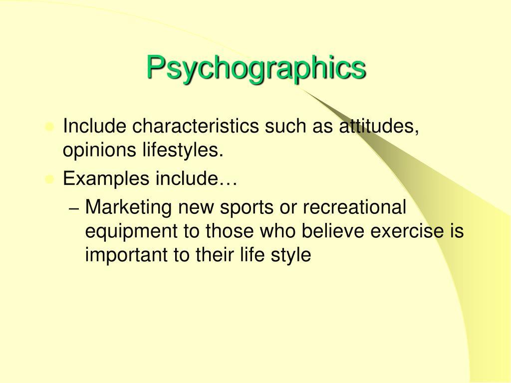 Psychographics